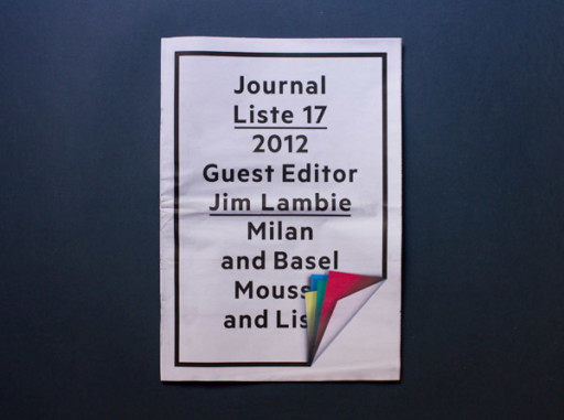 MOUSSE AGENCY LISTE 17 JOURNAL — 2012