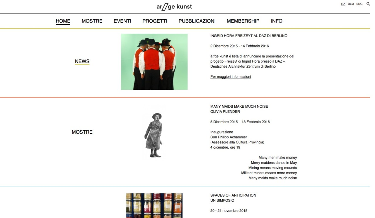 MOUSSE AGENCY AR/GE KUNST BOLZANO KUNSTVEREIN — 2015